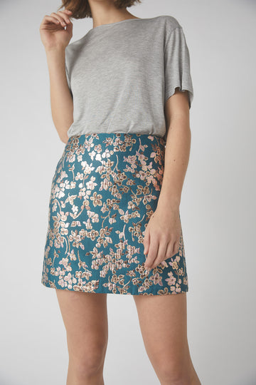 Bloom Mini Skirt / Teal