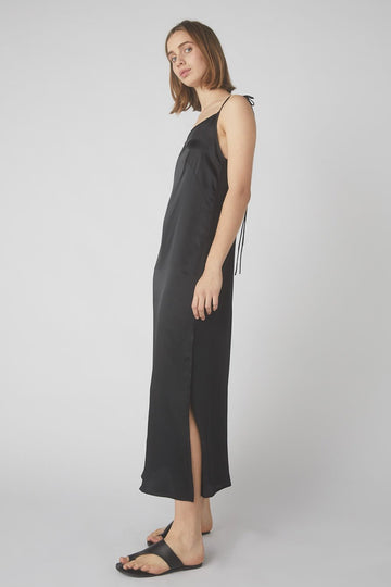 Aggy Lou Slip Dress / Black