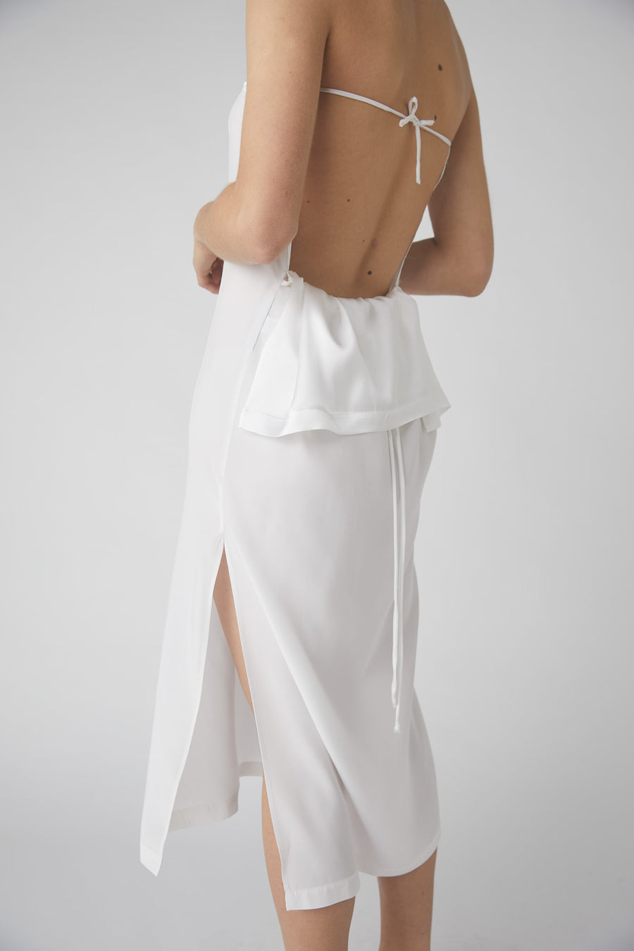 Duality Midi Skirt / White