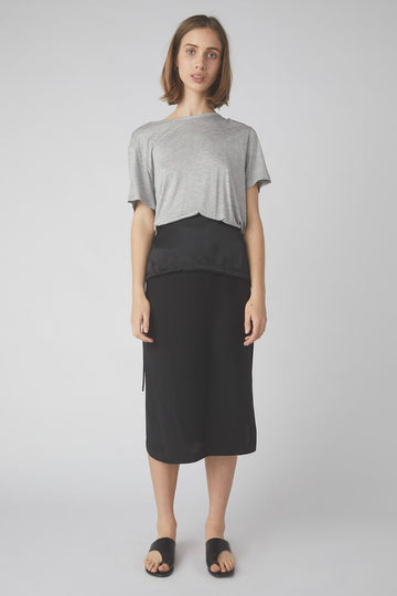Duality Midi Skirt / Black
