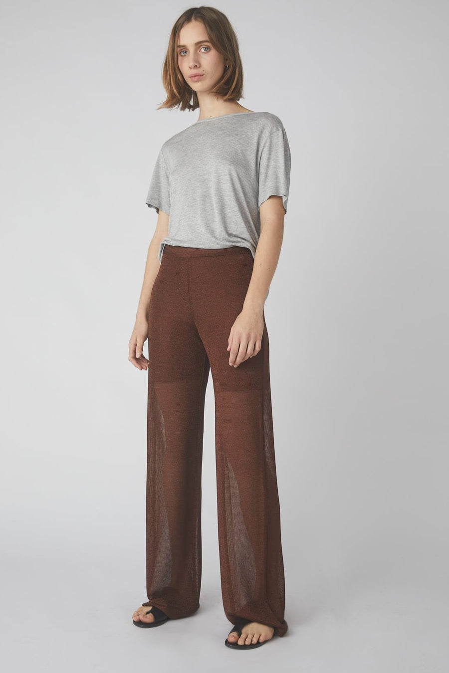 Temperate Metallic Lounge Pant / Brass