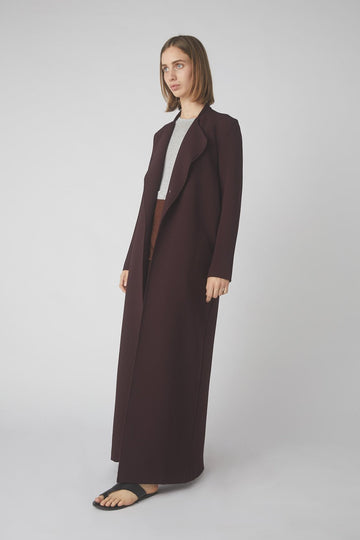 Fluid Lounge Coat / Merlot