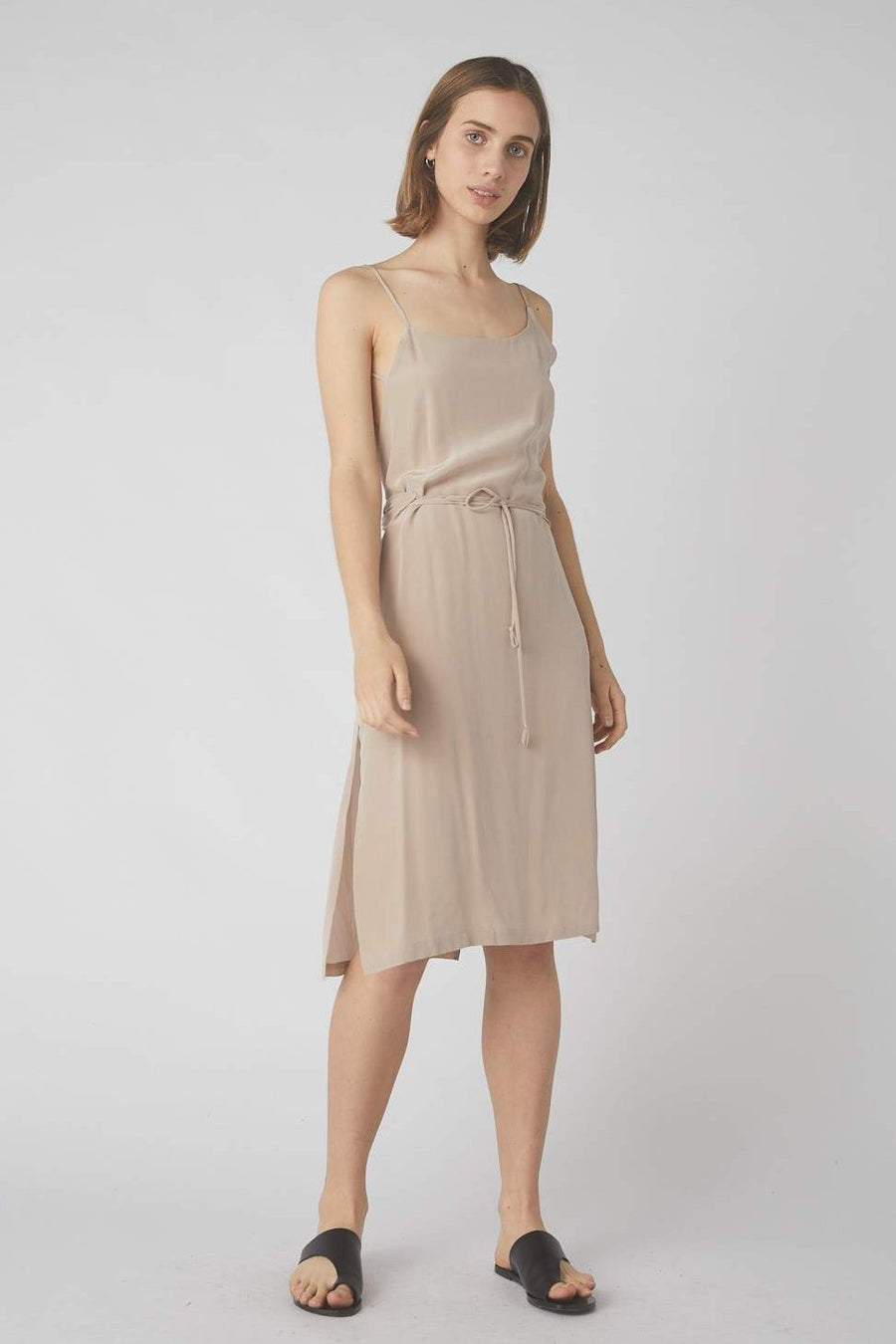 Asymmetrical Mid Wrap Dress / Rose