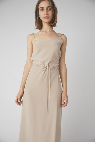 Asymmetrical Full Wrap Dress / Rose