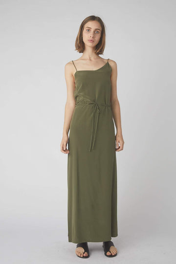 Asymmetrical Full Wrap Dress / Olive