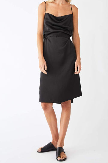 Pinnacle Midi Wrap Dress / Black