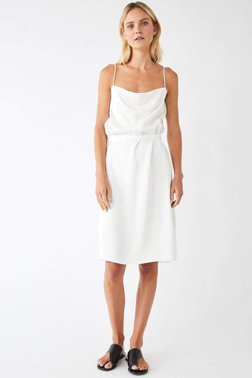 Pinnacle Midi Wrap Dress / White