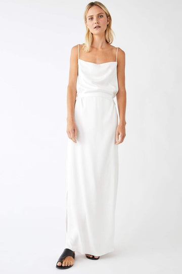 Pinnacle Full Wrap Dress / White