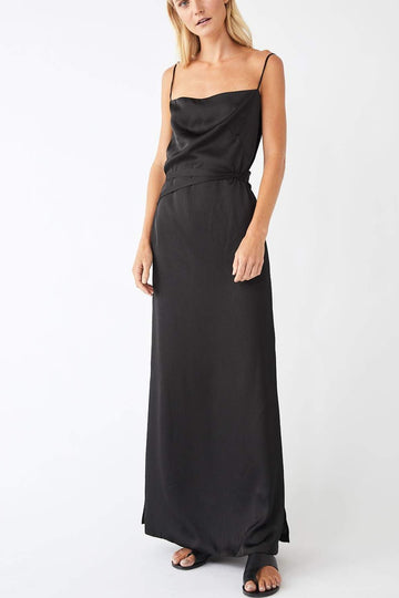 Pinnacle Full Wrap Dress / Black