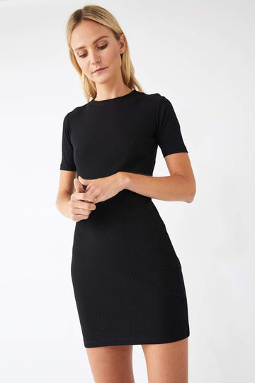 Base Jersey Tee Dress / Black