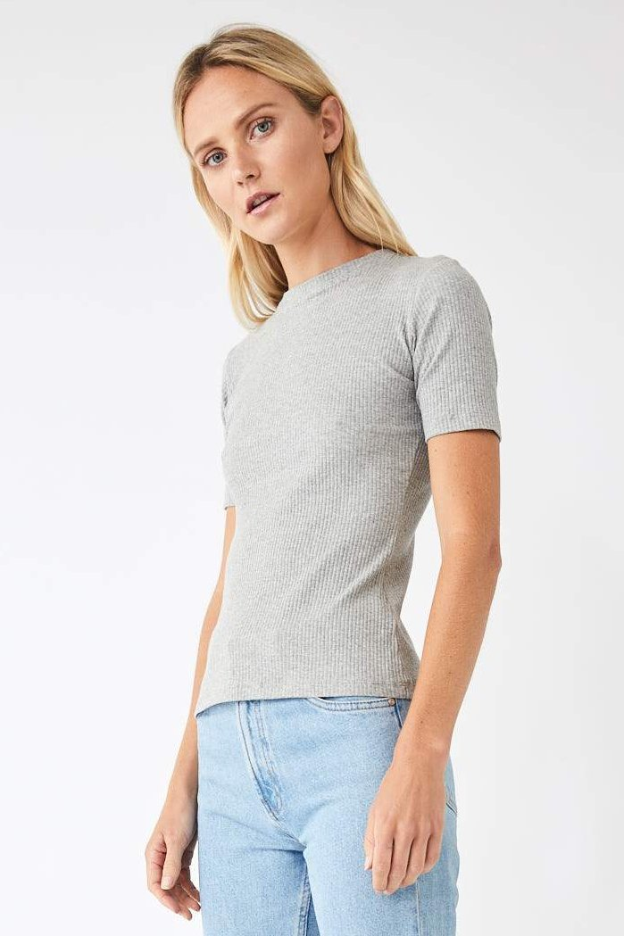 Base Jersey Tee / Grey Marle