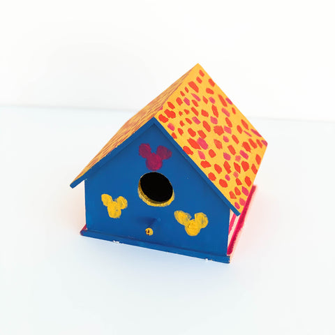 Blue, Pink, & Gold Bird House