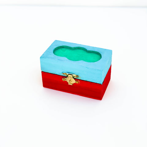 Blue & Red Jewelry Box