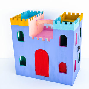 Blue, Yellow, & Red Castle Playhouse
