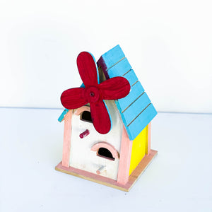 White, Pink, & Red Bird House
