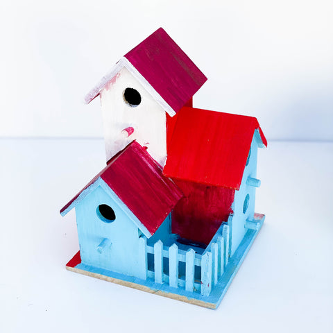 Red, White, & Blue Bird House