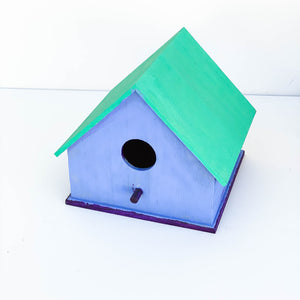 Blue, Teal, & Purple Bird House