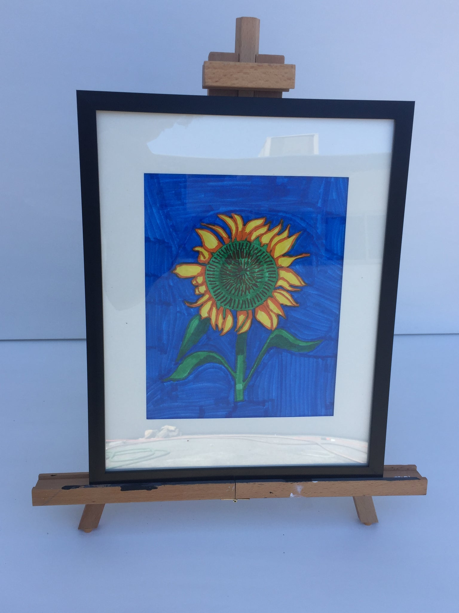 Sunflower for Maggie by Georgia O'Keefe Remastered