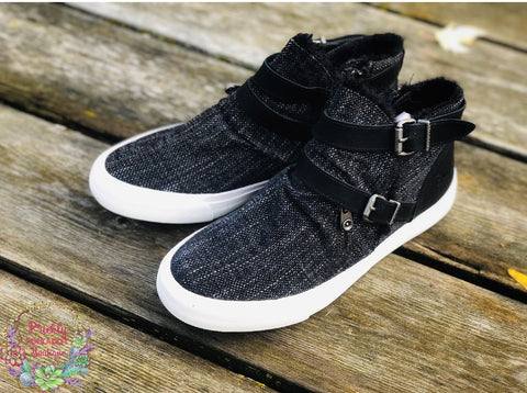 Black Fleece Lined Blowfish Sneakers