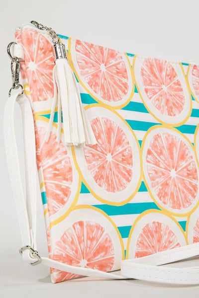 Grapefruit Fun Cross Body Clutch