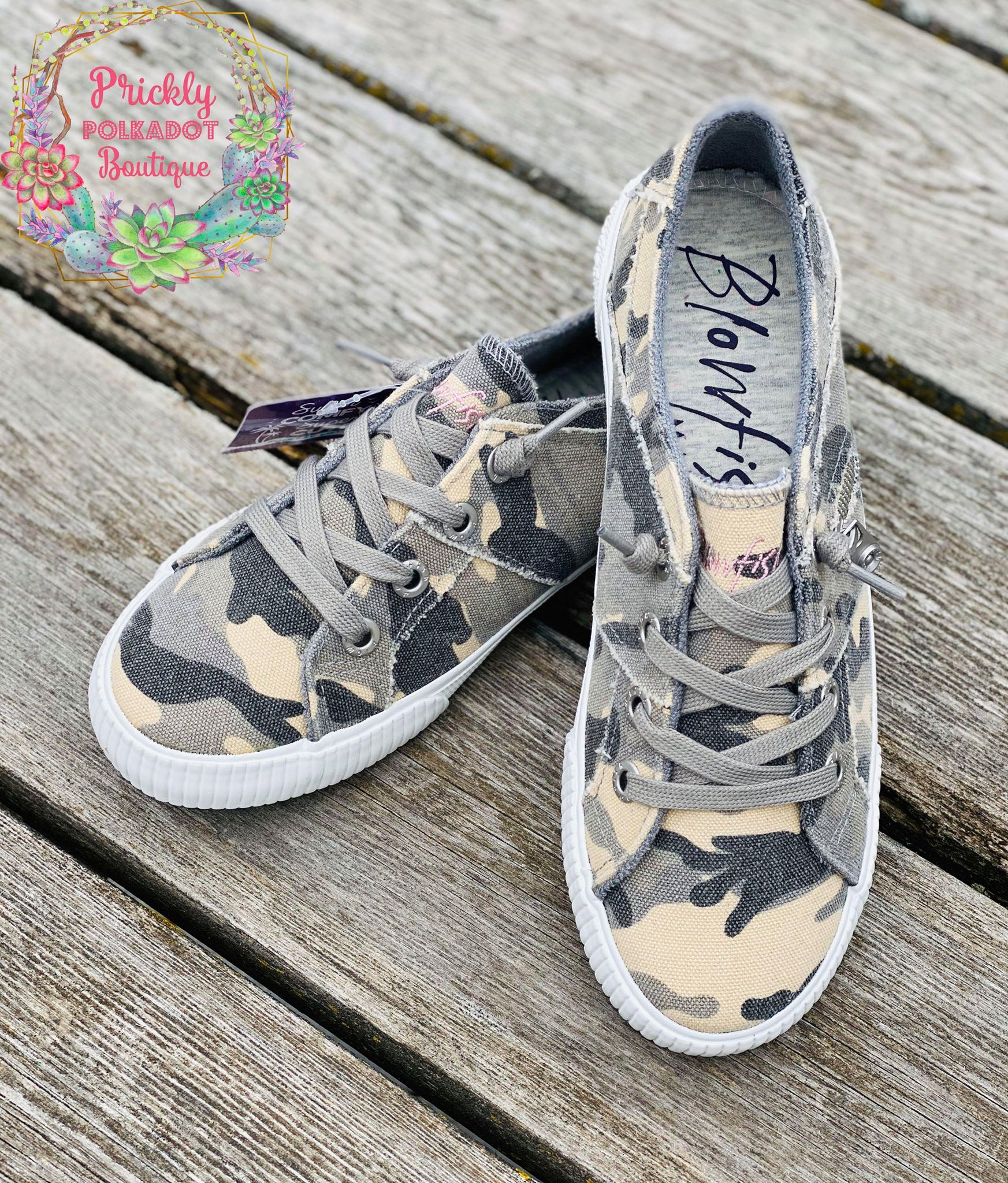 Blowfish Gray Camo Sneakers