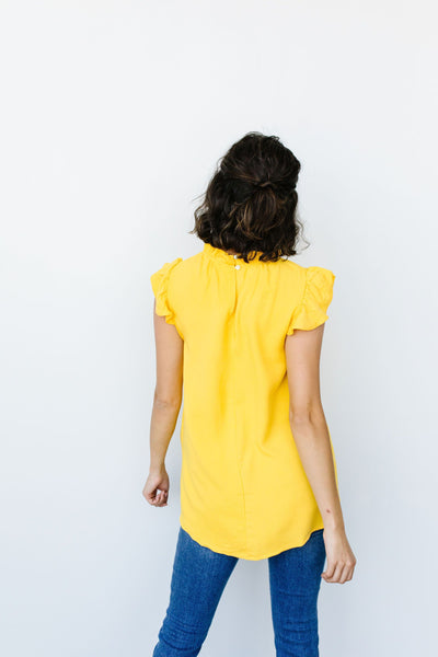 Build Me Up Buttercup Top In Yellow