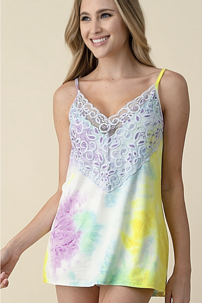 Summer Lovin' Wide Lace Tank