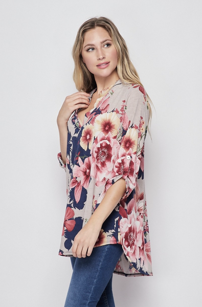 Blossoming Soul 3/4 Sleeve Top