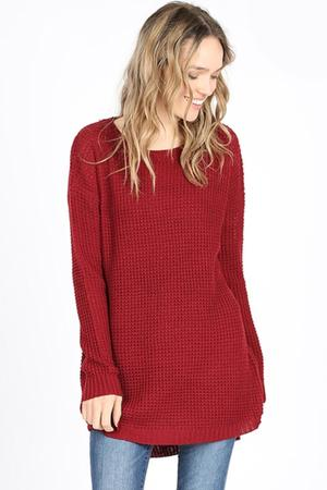Urban Pullover in Burgundy