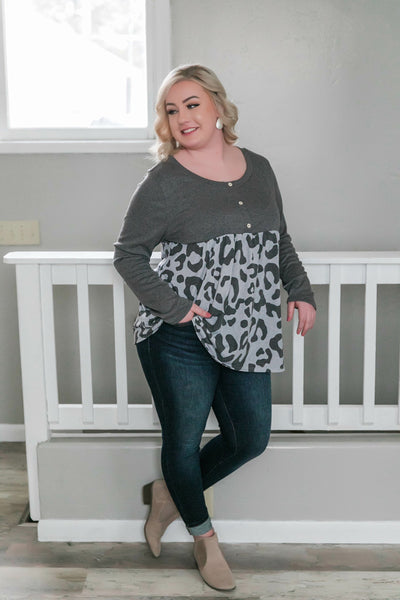 Tiered And True Leopard Top