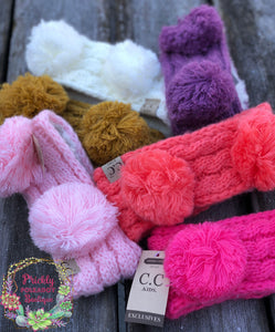 C.C. Exclusives Kids Double Pom Headbands