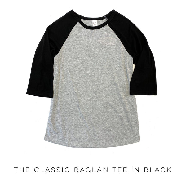 The Classic Raglan Tee in Black