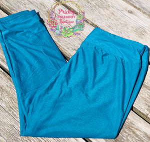 Teal Solid Leggings