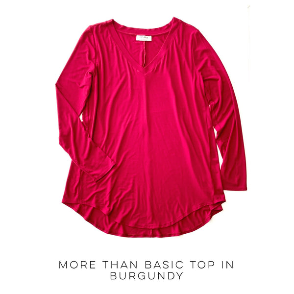 More Than Basic Top in Burgundy