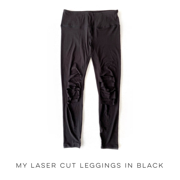My Laser Cut Leggings in Black