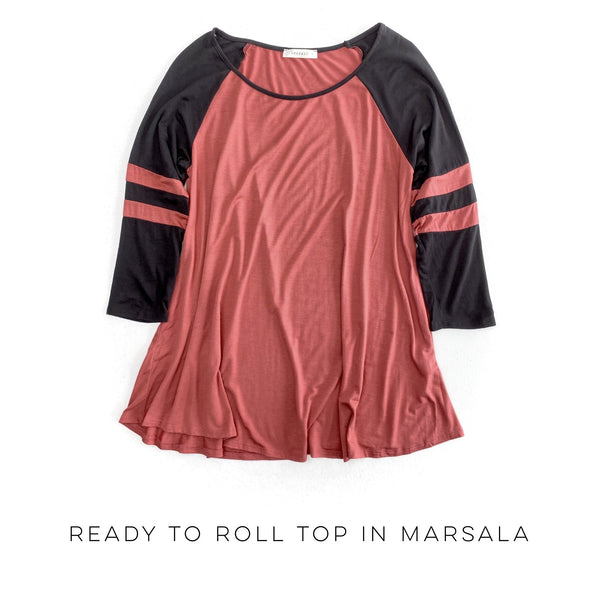 Ready to Roll Rugby Top in Marsala