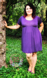 Babydoll Dress in Purple
