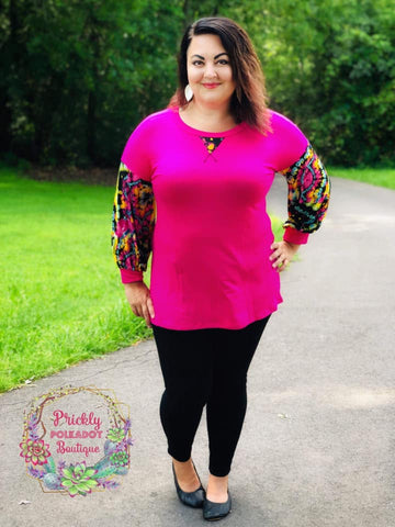 Neon Rainbow Sleeve Tunic