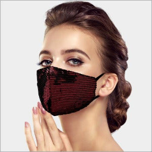 Fashion Mask - Ruby Sequin
