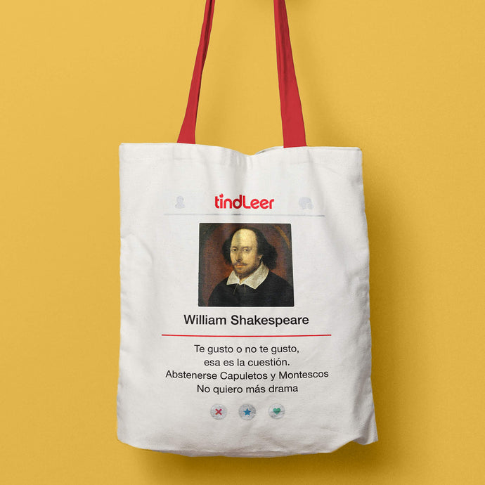 totebag tote bag william shakespeare tindleer ser o no ser humor literario regalos para lectores