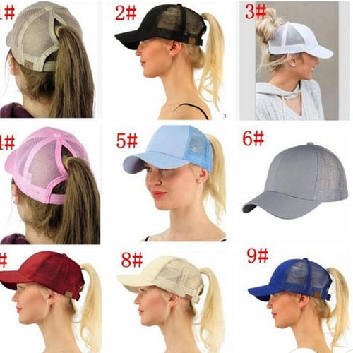 Pony tail hats
