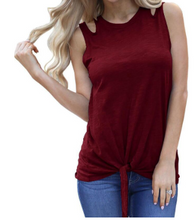 Load image into Gallery viewer, Cold Shoulder Knot Tank *Multi color available*