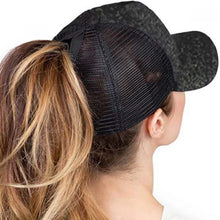 Load image into Gallery viewer, Glitter Pony Tail Hat Blanks