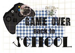 Game over back at school png download