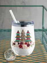 Load image into Gallery viewer, 12 oz Wine Tumbler- Holiday Addition