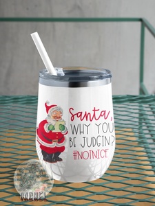 12 oz Wine Tumbler- Holiday Addition