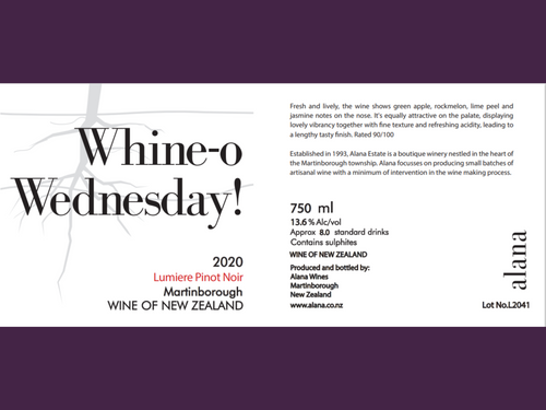 Whineo Wednesday! Lumiere Pinot Noir