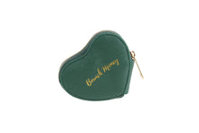 Load image into Gallery viewer, Willow & Rose Brunch Money Green Heart Coin Purse