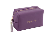 Load image into Gallery viewer, Willow & Rose BAG OF TRICKS Purple Make Up Bag