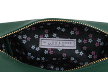 Load image into Gallery viewer, Willow & Rose Essentials Green Make up Bag